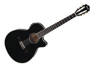 Guitarra Ibanez Aeg10nii Bk Electro Clasica Criolla Negro