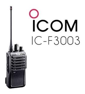 Radio Portátil Ic-f3003 136-174 Mhz, 5w, 16ch, Manos Libres