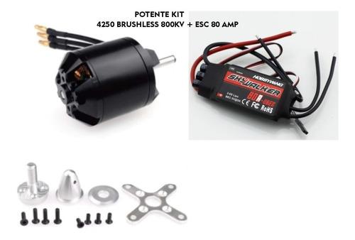Brushless Motor 4250 800kv + Esc De 80amp Hw (1250watts)
