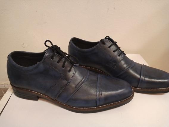 Zapatos Brucap Color Azul Con Cordones