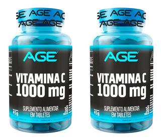 2x Vitamina C Vit C 1000mg = 60 Cápsulas - Nutrilatina Age