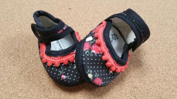 Zapato No Caminante Negro Y Coral Nena Usado