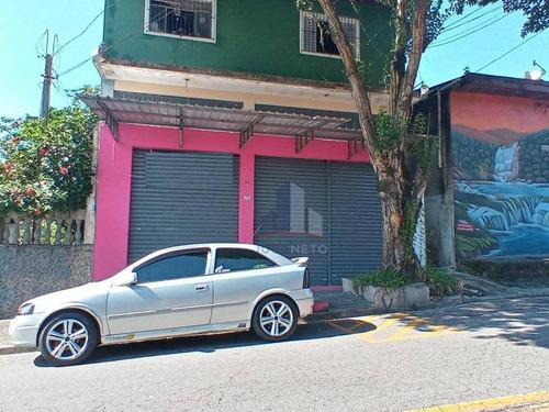 Salão Para Alugar, 32 M² Por R$ 900,00/mês - Jardim Zaira - Mauá/sp - Sl0161