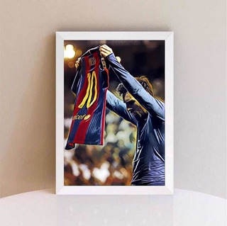 Kit Quadros Decorativo Do Lionel Messi