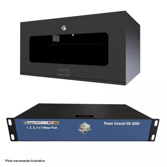Kit Power Coaxial 16ch Hd3000 Mini Rack 5u Acrílico Onix
