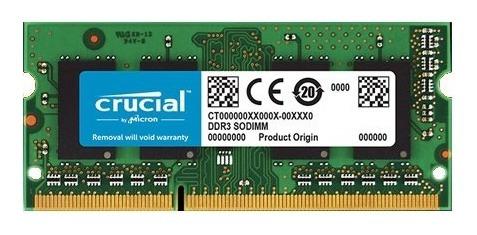 Memoria Ram Crucial Sodimm 4gb Ddr3l 1600mhz Notebook 1.35v