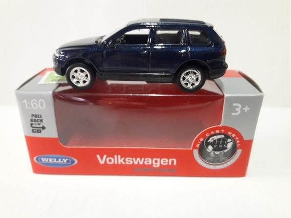 Welly Volkswagen Tuareg 1:60 Ruedas De Goma Pull Back