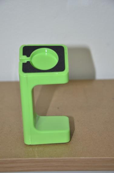 Dock Suporte Carregamento Preto Para Apple Watch - Verde