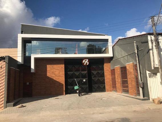 Galpão Para Alugar Com Escritórios Mobiliados Em Alto Padrão, 1316 M² Por R$ 12.000/mês - Serrinha - Fortaleza/ce - Ga0006