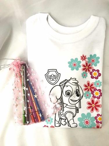 Sorpresa Infantil 10 Kit Camiseta Para Pintar