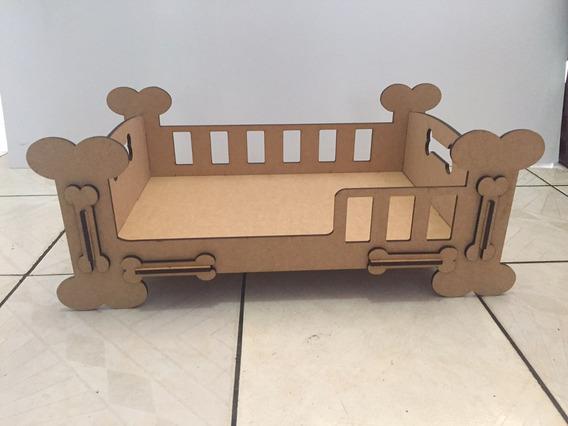 Cama Caminha Para Cachorro Gato Pet Mdf 51cm X 35cm Crú