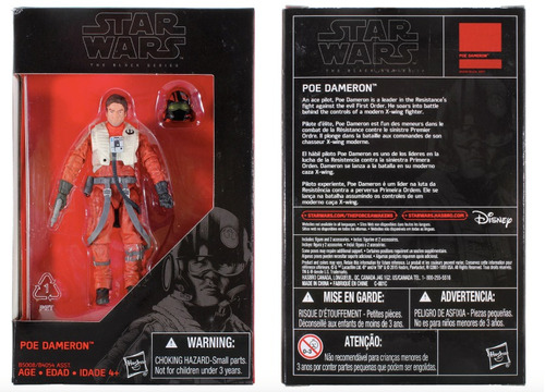 Poe Dameron Star Wars  Black Series 3.75