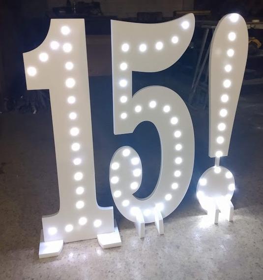 Letra Polyfan 1 Metro Gigante Con Luz Bodas 15 Años Led