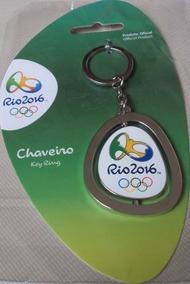 Chaveiro Prateado Olimpíada Rio 2016 Produto Oficial