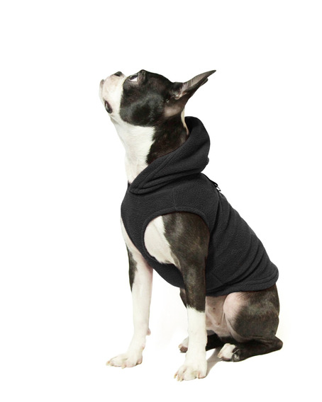 Gooby Every Day Fleece Cold Weather Dog Vest With Hoodie For