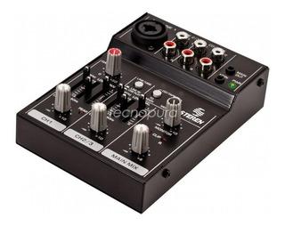 Consola Mezcladora Usb Portátil De 3 Canales Mic Dj Mix-150