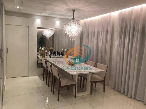 Cobertura Com 3 Dormitórios À Venda, 234 M² Por R$ 2.350.000 - Vila Augusta - Guarulhos/sp - Co0022