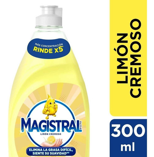 Detergente Magistral Ultra Limón Cremoso 300 Ml