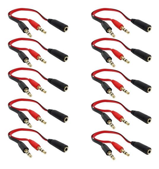 10 Adaptador Splitter Divisor De Fone E Microfone Razer