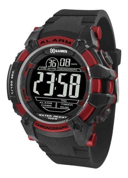 Relógio Xgames Xmppd540 Pxpx Pulso Digital Preto E Vermelho