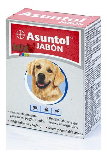 Imagen 1 de 6 de Asuntol Jabón Perros 100 G Antipulga Garrapata Piojos