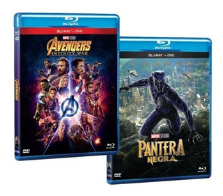 Pack Bluray Avengers: Infinity War Y Black Panther Bd+dvd