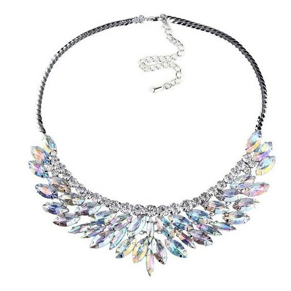 Bello Collar Cristal Moda Boda Evento Regalo