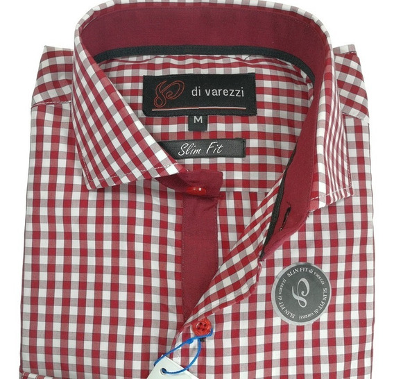 Camisa Di Varezzi Entallada ,ajustada Con Combinaciones Slim