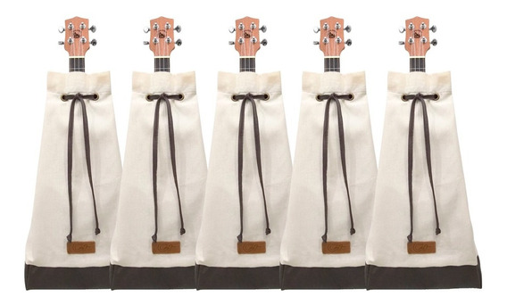 Kit Com 5 Bags Aloha Ukulele Mochila Escolha As Estampas