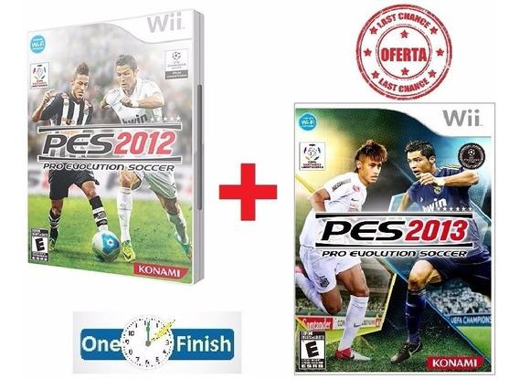 Pes 2012 + Pes 2013 Originais Lacrados - Wii