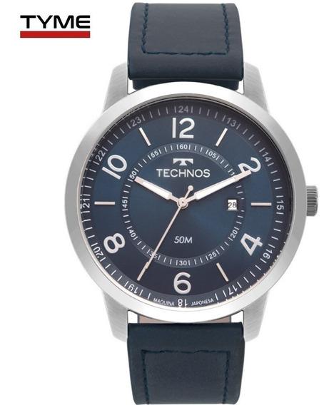 Relógio Technos Masculino Classic Steel 2115mst/0a Couro Nfe