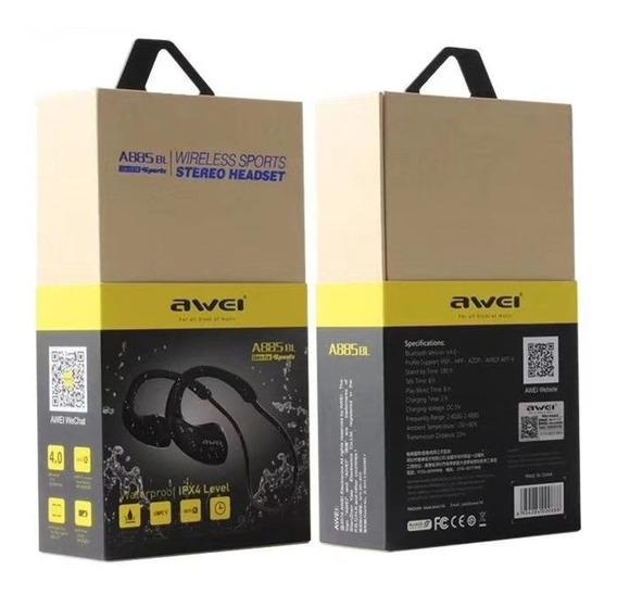 Awei A885bl Fone De Ouvido Bluetooth Hifi Sport Com Microfon