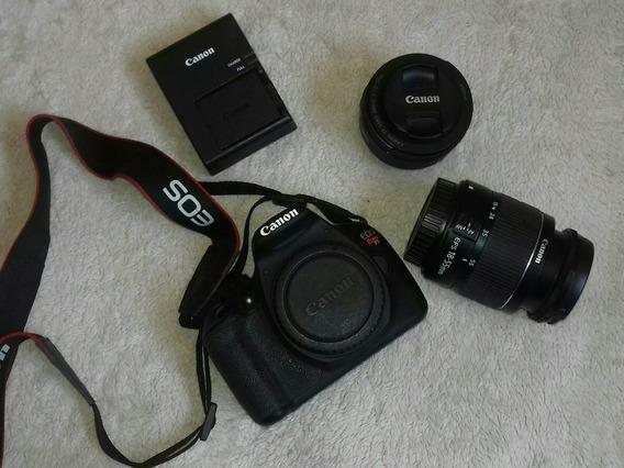 Câmera Canon T5. Com Duas Lentes 18/55 E 50mm
