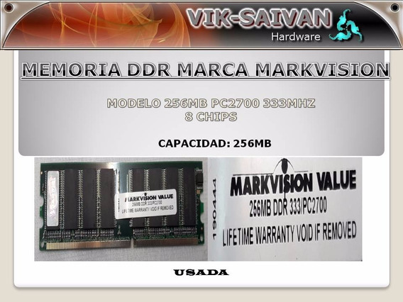 Memoria Ddr Markvision 256mb Pc-2700 333mhz 8 Chips 41