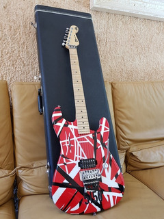 Charvel Evh Made In Usa Art Series Red, Black And White
