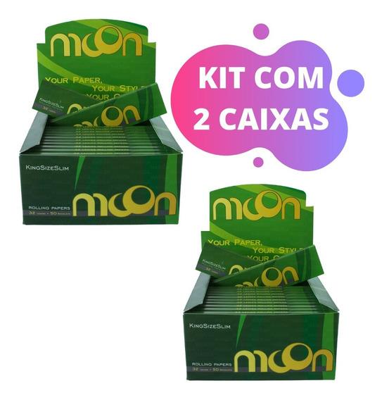 2 Caixa De Seda Moon Brasil Smoking King Size Preço Atacado