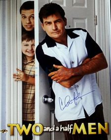 Poster Firmado Charlie Sheen Two And A Half Men Autografo