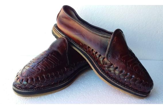 Huarache Artesanal Cerrado Para Hombre Tipo Zapato 25,26, 27