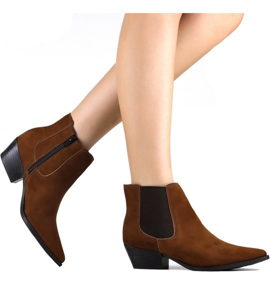 Bota Zariff Shoes Chelsea Em Nobuck 1841714