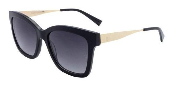 Oculos Sol Ana Hickmann Ah9258 A02 Preto Brilho Cinza Degrad