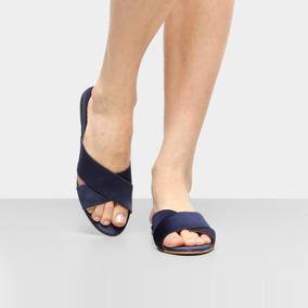 76834dce9 Drezzup Feminino Rasteiras - Calçados, Roupas e Bolsas Azul escuro ...
