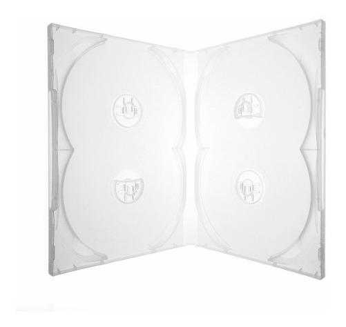 Box Case Estojo Para 4 Dvds Transparente Amaray 10 Peças