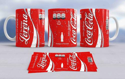 Regalo Pocillos Lata De Gaseosa Tazas Coca Cola Pepsi Seven