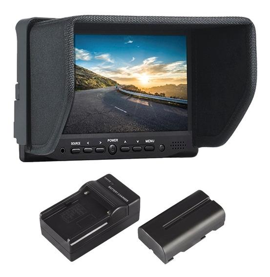 Monitor Externo De Referência Lcd Hdmi P/ Canon Sony Nikon