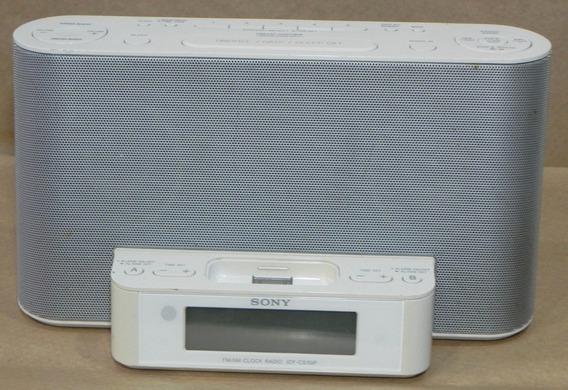 Dock Sony White iPhone 4, Fm/am Clock Rádio Icf-cs10ip