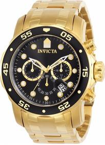 Relogio Masculino Invicta Cronografo Dourado 0073 Original