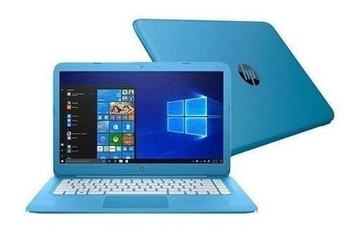 Notebook Hp 14-cb011wm Cel-n3060/4gb/32ssd/14p/w10 Azul