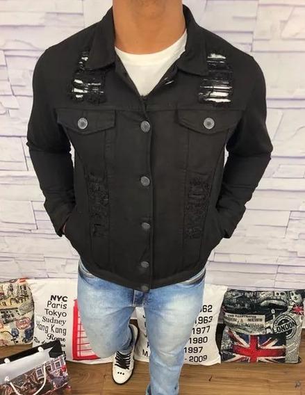 Jaqueta Casaco Masculino Jeans Slim Fit Marcas De Luxo   P Ao Gg