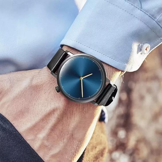 Reloj 2019 Casual Elegante De Moda Color Negro Con Azul