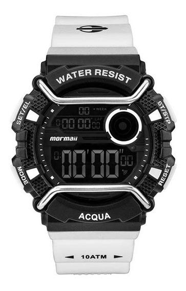 Relógio Masculino Acqua Monxb/8p - Mormaii Preto Com Branco